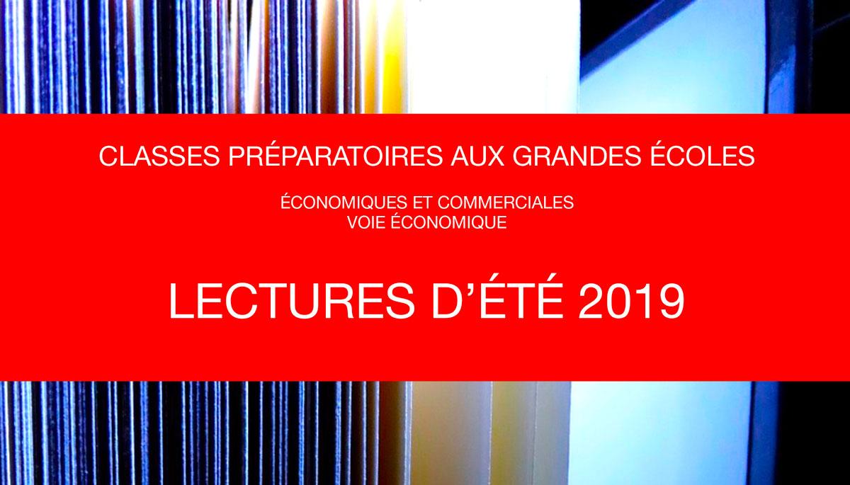Lectures d'été 2019